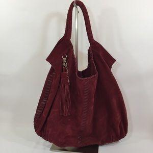 Crown Vintage Suede Leather Satchel